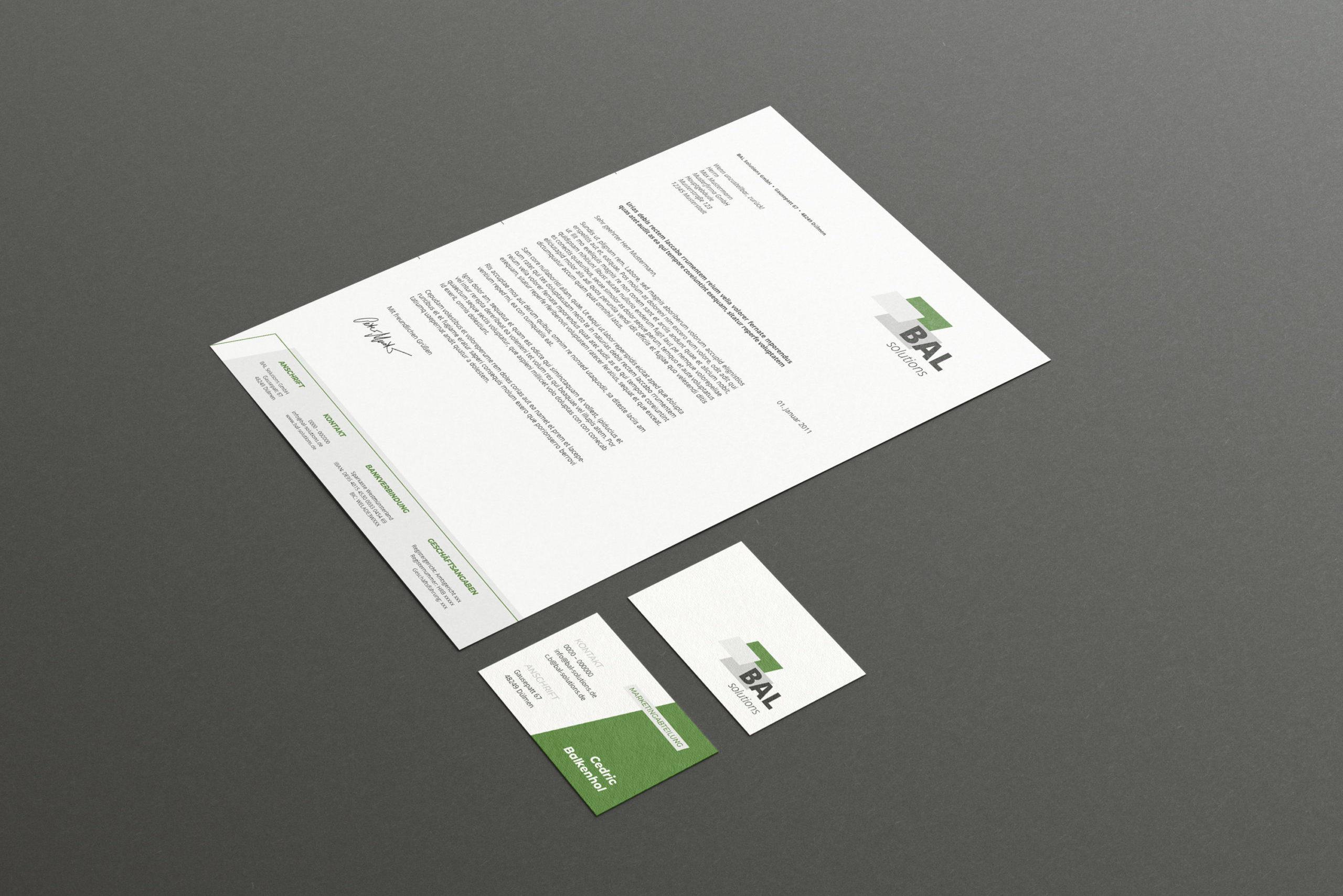Corporate Design BAL Geschäftsausstattung