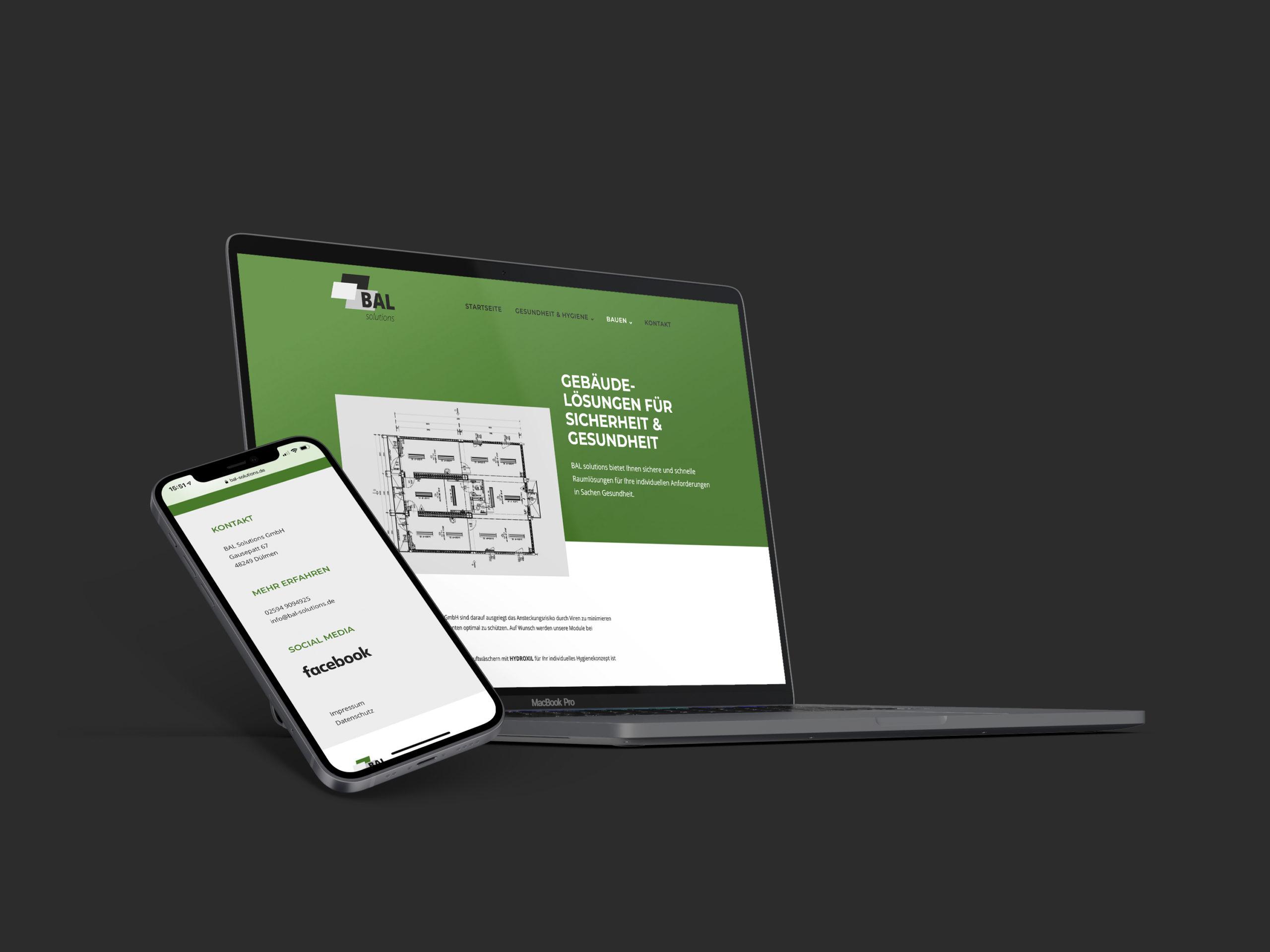 Internetpräsenz BAL solutions